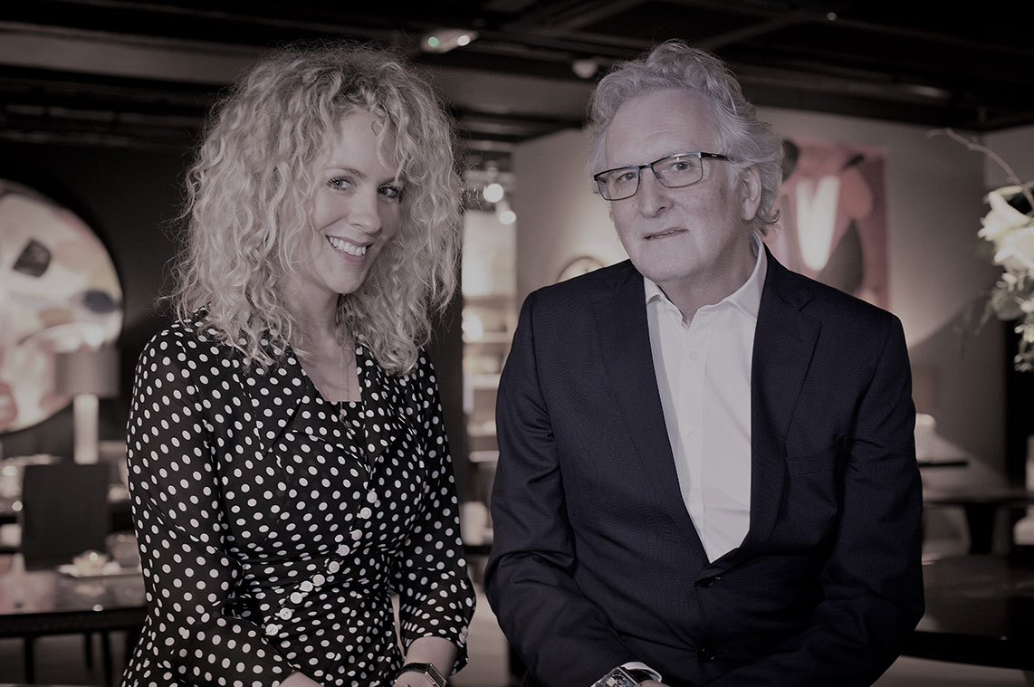 Alexandra and Richard Davidson of Davidson London furniture.