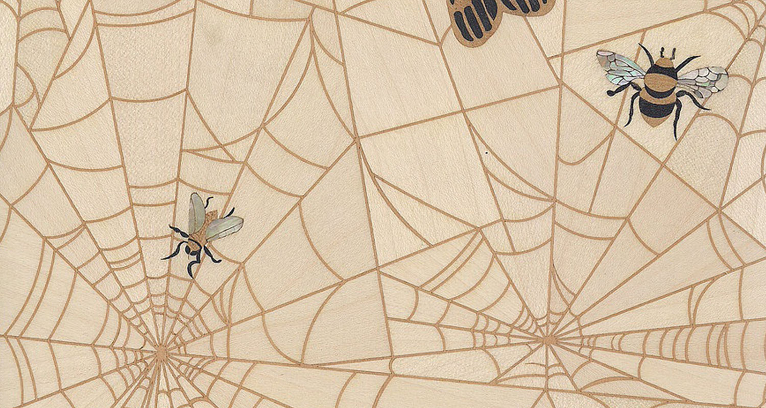 Web & Insects - ACE Marquetry